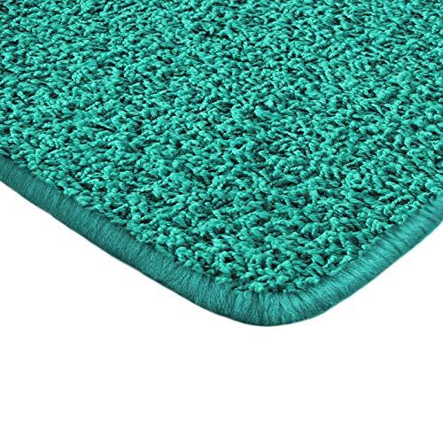 Floori Shaggy Hochflor Teppich - 133x190cm - moderner Wohnzimmerteppich - türkis - Blaue Shag Teppich