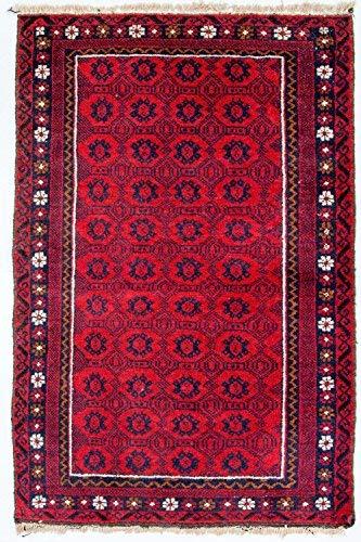 Morgenland afgano belutsch tappeto 122 x 79 cm arancione annodato a mano orientale