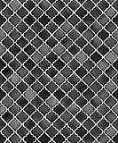 Vlies Tapete Stein Keramik Mosaik Fliesen Florentiner Optik Schwarz grau weiß NF232086