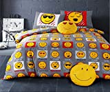 Single Bed Duvet / Quilt Cover Bedding Set Smiley Bedding / Faces / Expressions / Emoticons