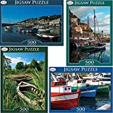 ZUMZ NEW 500Pc 500 PC PIECES BOAT BOATS HARBOUR VALUE JIGSAW PUZZLE MIND FUN GAMES KIDS ADULTS BOARD GAME