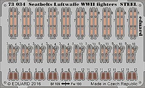 (EDP73034) - Eduard Photoetch 1:72 - WWII Seatbelts Luftwaffe Fighters