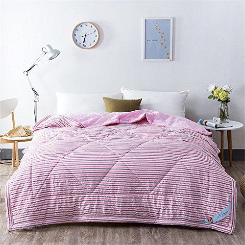RFVBNM Kurze Japan Style Washed Cotton Sommer Quilt Klimaanlage Decke Super Soft Plaid Erwachsene Kinder Tröster Bettdecke Heimgebrauch, A 200 * 230 cm (Cotton Soft Tröster)