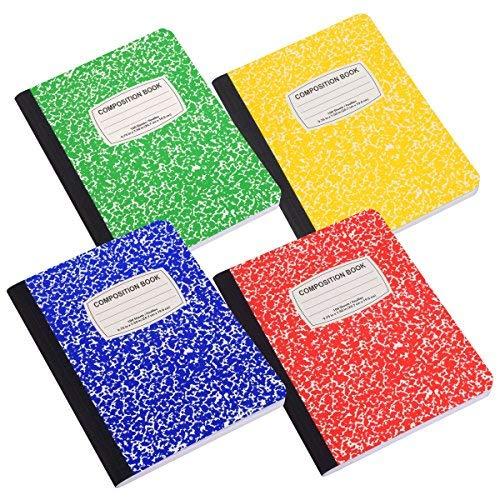 Von Colorful Classic Zusammensetzung Notebook, 100Blatt, vier farbigen Pack