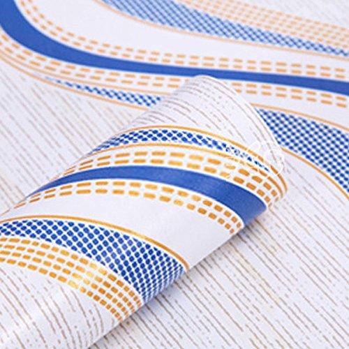 SIMPLELIFE4U 2PCS linee ondulate Peel stick Wallpaper