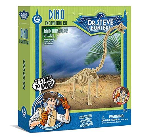 Geoworld 625266 - Dr. Steve Hunters: Dino Ausgrabungs-Set - Brachiosaurus-Skelett, Alter: 6+,Größe: 28 cm