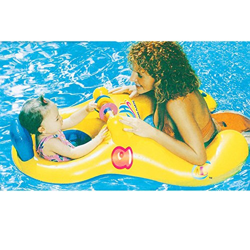 Nhsunray baby and me combo boat, galleggiante parents-child di sicurezza sedile gonfiabile swim anello summer fun swim trainer