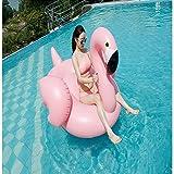 Riesen Aufblasbarer Flamingo für Deinen Pool-und Sommerspaß Pink-Rosa Großer Pool Party Flamingo 150X100X86CM (Schön das Einhorn)