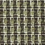 Linton Z6416 Stoff aus Tweed, Meterware, Schwarz, Creme,