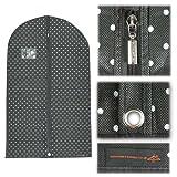 5 atmungsaktiver Kleidersack schwarz punktiert Länge ca. 100 cm x