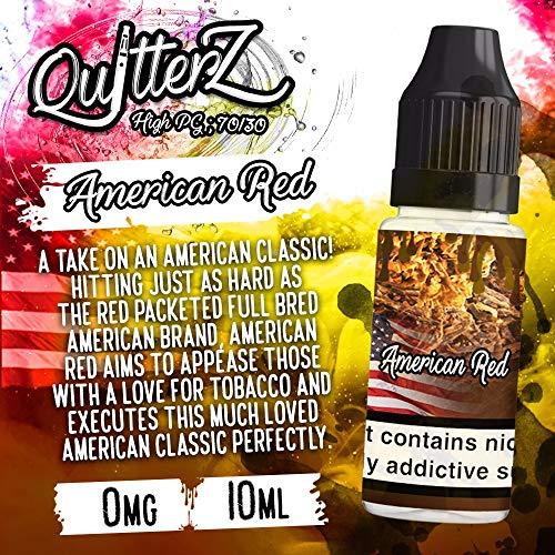 Paquete 2 QuitterZ Liquid Vape Juice Rich Tabaco Mentol
