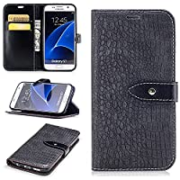 Nutbro Samsung Galaxy S8 Plus Wallet Case,Galaxy S8 Plus Case,Luxury Crocodile Snake Print Leather Case Pu Leather Wallet Case [Stand Feature] Built-in Credit Card Slots Wallet Case