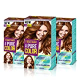 Schwarzkopf Pure Color Permanent Gel Färbung No. 7.57 Toffee Drogensucht (3er Pack)