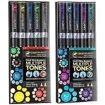 Chameleon Primary Tones Set of 5 Pens + Cool Tones Set of 5 Pens Combo Pack by Chameleon