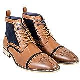 Cavani Hommes Modène des Chaussures Contraste Ancien Cuir Lacer Bottines