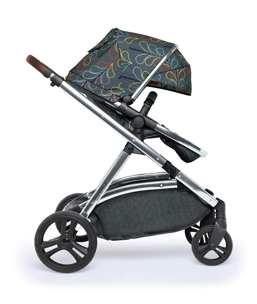 Cosatto Wow XL 3-in-1 Pram and Pushchair, Suitable from Birth - 25 kg, with Tandem Mode and Buggy Board- Nordik Cosatto The flexible family unit, Wow XL has the capability, straight out of the box, to be used as a single child travel system (3-in-1) or as a double/tandem for an older sibling too, with no need to buy any extras (box includes: 1 x Carrycot and 1 x Seat unit) The spacious carrycot is comfy, with extra padded mattress and apron; easy to manoeuvre with one handed pushbutton carrycot release; swap the from-birth carrycot to reversible pushchair seat when they're ready to sit up; the single pushchair mode supports up to 25 kg so your toddler can use it for even longer; with the added ease of one-handed seat unit recline and integrated calf support; the fully extendable hood with visor is 100 UPF and has a peep hole to keep an eye on little ones High-quality craftsmanship; from woven textured fabrics and discoverable details, to gleaming chrome chassis from significant leatherette handle to exquisite embroideries and felt appliques; each design comes with two cuddly travelling companions, straight from Cosatto's famous storytelling pattern; when you explore together, anything can happen 5