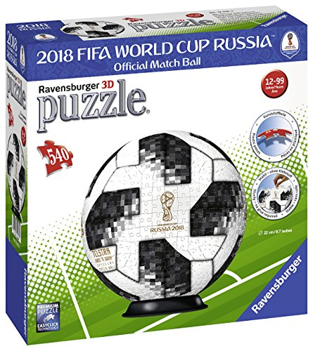 Ravensburger 12437 Match Ball 2018 FIFA World Cup 3D-Puzzle (3d Cup Team)