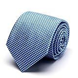 XIANGUO Herren Strickmuster weben Fashion Klassik Muster Krawatte für Casual & Arbeitskleidung Geschäft Krawatte,One Size Blau