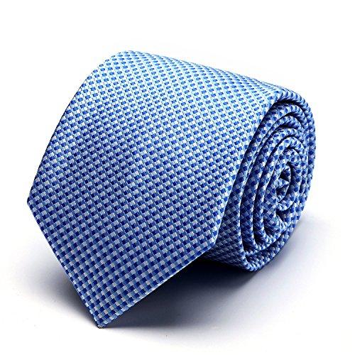 XIANGUO Herren Strickmuster weben Fashion Klassik Muster Krawatte für Casual & Arbeitskleidung Geschäft Krawatte,One Size Blau (Tie-dye Blau Grün)