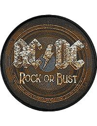 Patch aC/dC rOCK oR bUST patch tissé 9,5 cm