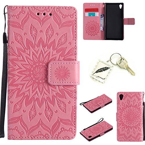 Preisvergleich Produktbild Silikonsoftshell PU Hülle für Sony Xperia M4 (5 Zoll ) Tasche Schutz Hülle Case Cover Etui Strass Schutz schutzhülle Bumper Schale Silicone case+Exquisite key chain X1#AD (8)