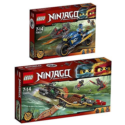 Preisvergleich Produktbild Lego Ninjago 2er Set 70622 70623 Wustenflitzer + Schatten des Ninja-Flugseglers