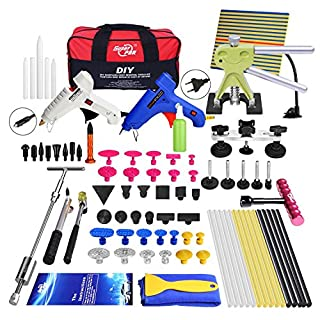 Auto Car Dent Repair Kit Paintless Hail Damage Dent Removal Puller Lifter Pdr Kits With Tool Bag 74Pcs