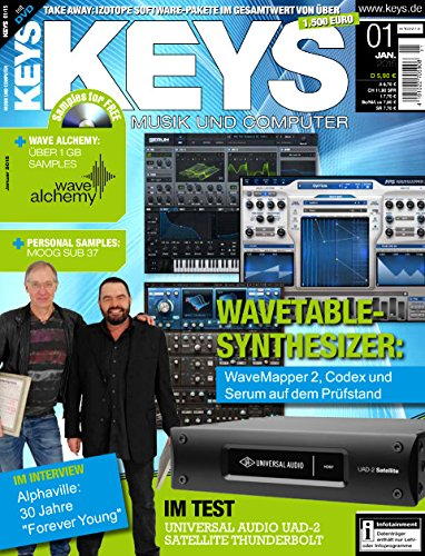Preisvergleich Produktbild Keys 1 2015 mit DVD - Wavetable Synthesizer - 1 GB Samples auf DVD - Personal Samples - Free Loops - Audiobeispiele