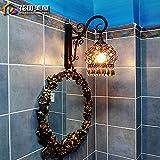 TYDXSD Hua Tianmei continental retrò lampada da parete orientale del bacino mediterraneo lampada da parete LED creative lampada da parete a luce del monitor al posto letto camera da letto nel sud-est Asiatico lampada da parete