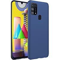 Valueactive Back Cover for Samsung Galaxy M31 Case Cover Rubberised Matte Soft Silicone TPU Flexible Back Case Cover for Samsung Galaxy M31 (Blue)