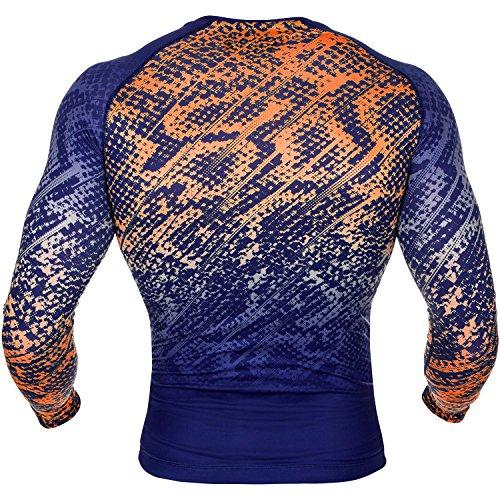 Venum T-Shirt a Compressione a tropicale, da uomo, Uomo, Tropical, Blu/Giallo, M Blu/Arancione