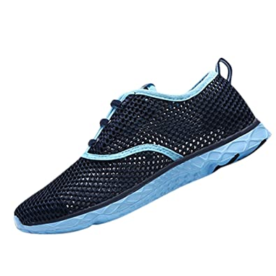 Unisex couple Men's Women's Water Shoes Swim Mesh Trainers Breathable Aqua Quick Drying Shoes