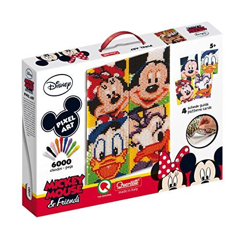 Quercetti 0807WD Pixel Art Mickey 6Friends