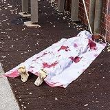 Prextex.com Halloween 1,50 Meter Lange Leiche aus dem Grab für die gruseligste Halloween Deko Ihres verwunschenen Hauses