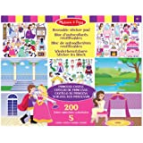 Melissa & Doug 14197 Play House Reusable Sticker Pad Bundle