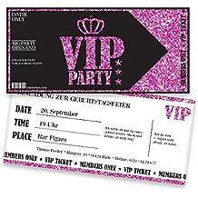 Einladungskarten Geburtstag Pink VIP | 25 Stück | Ladyu0027s Night | Inkl.  Druck Ihrer Texte