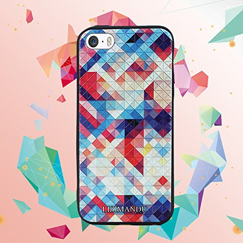 iPhone 5 hülle,iPhone 5s hülle,iPhone se hülle,Lizimandu TPU 3D Handyhülle Muster Case Cover Für iphone5/5s/5se(Elefant/Elephant) Bunte Pizzle/Colorful Pizzle