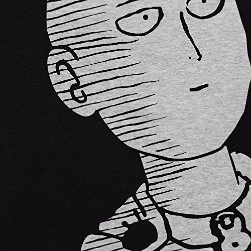 CottonCloud Saitama OK Manga Damen T-Shirt One Punch OPM Grau Meliert