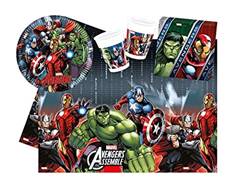 Procos 10110953B - Party Marvel Avengers Power Set 1, Größe S, 37 teilig