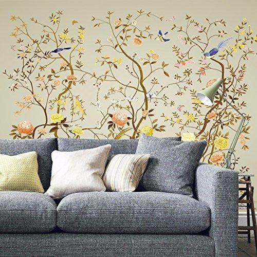 modernen chinesischen Blumen und Vogel Zeichnungen, Tapete, Wohnzimmer, Sofa, TV, Schlafzimmer, Hintergrund Tapete