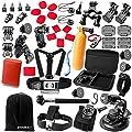 Zookki Essentiell Zubehör Bundle Kit für GoPro Hero 4 3+ 3 2 1 Black Silver Zubehör Set für GoPro Hero4 Hero3+ Hero3 Hero2 und SJ4000 SJ5000 SJ6000, Kamera Zubehör Kit für GoPro 4 3+ 3 2 1