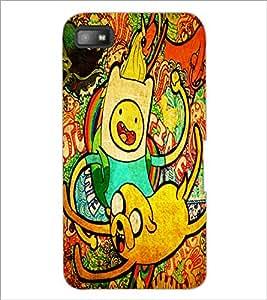 PrintDhaba Graffiti D-4843 Back Case Cover for BLACKBERRY Z10 (Multi-Coloured)