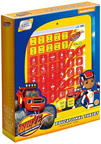 Blaze y los Monster Machines - Tableta educativa bilingüe con 7 actividades, color rojo (Global Ameurop PLAF)