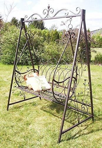 Denk Balancelle à Bascule avec chaînes 18688 en métal Fer forgé Balancelle de Jardin