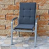Auflagen für Stapelsessel 111x45 cm SUN GARDEN Rustico 50318-701 in anthrazit ohne Sessel