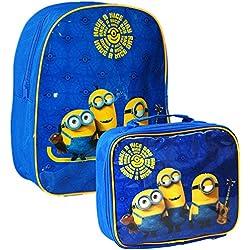 Universal® oficial Minions Kids niños escuela viaje mochila mochila bolsa y juego de bolsa para el almuerzo