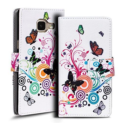 Verco Handyhülle Galaxy A3 2016 Muster, Motiv Hülle für Samsung Galaxy A3 Book Case Flip Cover - Design 8