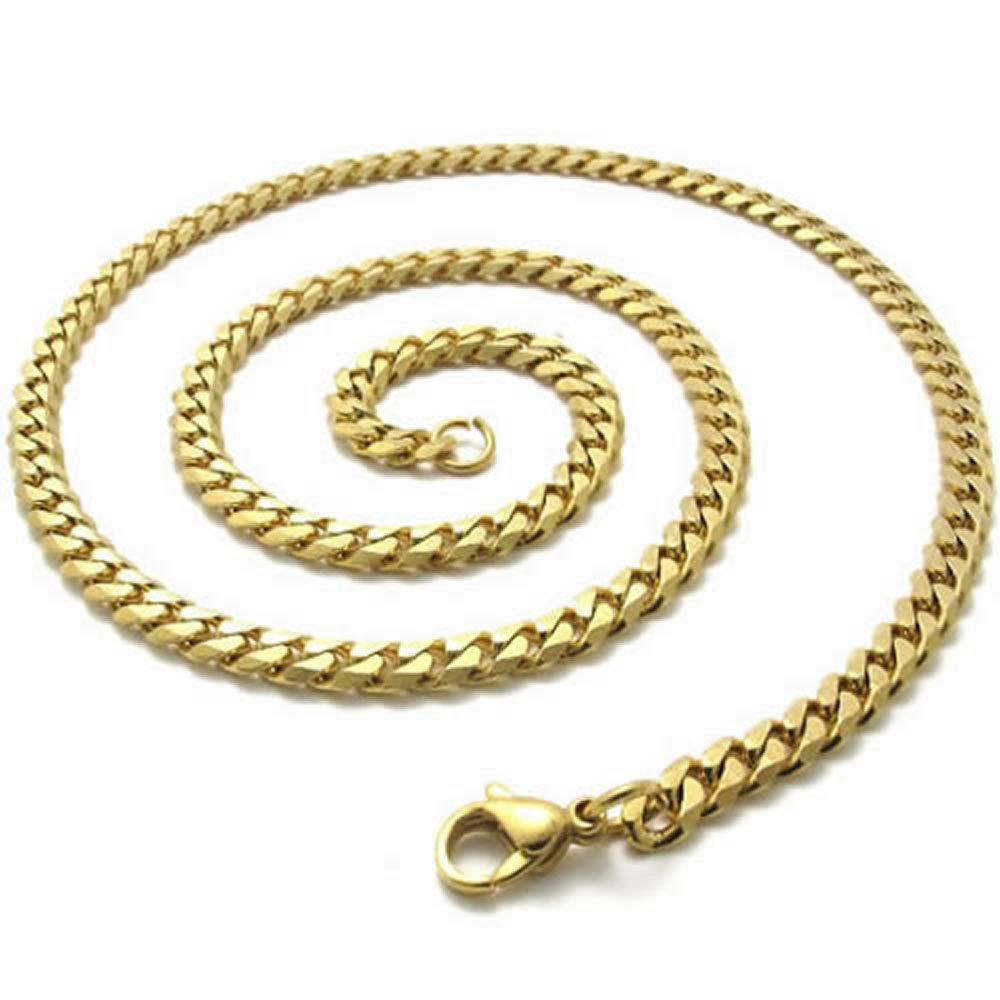 Konov Jewellery Mens Stainless Steel Necklace Twist Link Chain ...