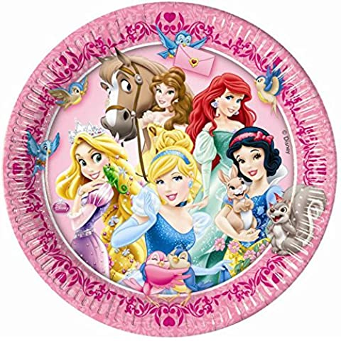 8 PLATOS 23 CM DE DISNEY PRINCESS