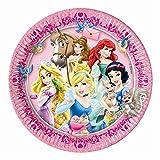 23cm Disney Prinzessin und Tier Pappteller, 8Stück